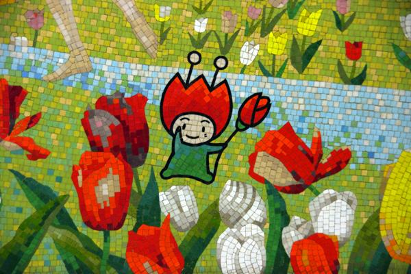 花ずきんちゃん壁